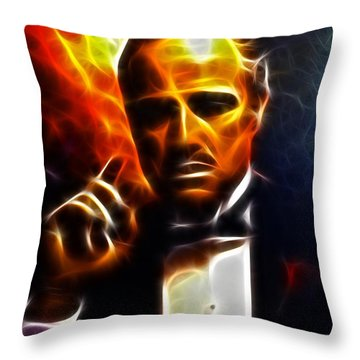 The Godfather Throw Pillow by Pamela Johnson