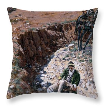 The Good Samaritan Throw Pillow by Tissot