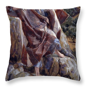 The Good Shepherd Throw Pillow by Tissot