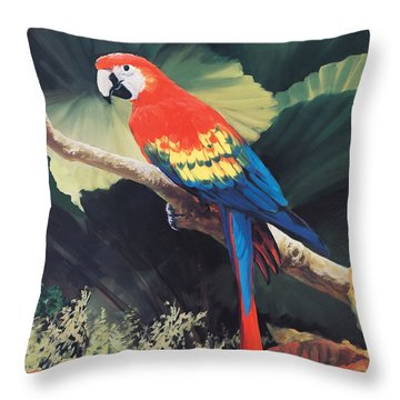 The Gossiper Throw Pillow by Laurie Hein