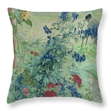 The Grandfather Throw Pillow by Carl Larsson