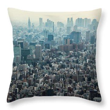 The Great Tokyo Throw Pillow by Peteris Vaivars