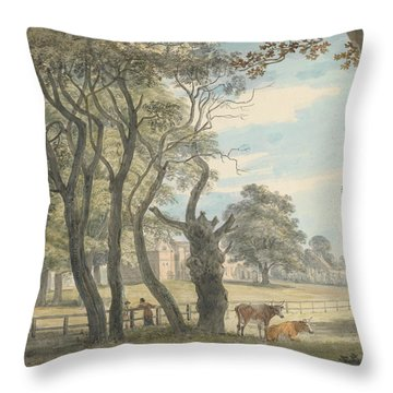 The Gunpowder Magazine, Hyde Park Throw Pillow by Paul Sandby