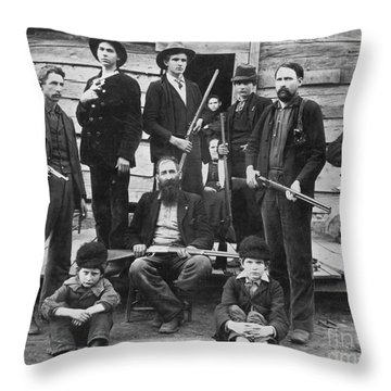 The Hatfields, 1899 Throw Pillow by Granger
