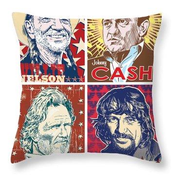 The Highwaymen Throw Pillow by Jim Zahniser