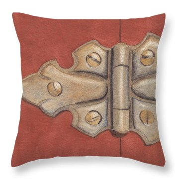 The Hinge Throw Pillow by Ken Powers