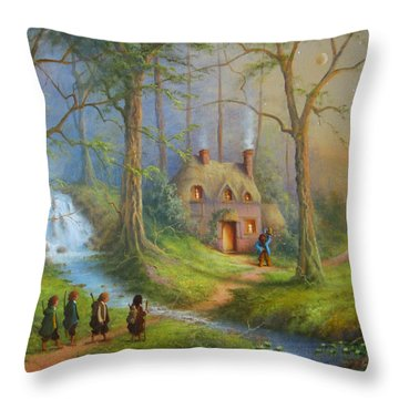 The House Of Tom Bombadil.  Throw Pillow by Joe  Gilronan