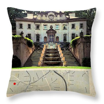 The Hunger Games Catching Fire Movie Location And Map Throw Pillow by Pablo Franchi