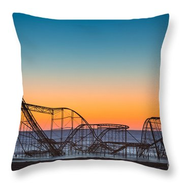 The Iconic Star Jet Roller Coaster Throw Pillow by Michael Ver Sprill