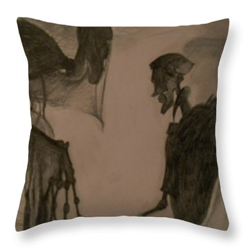 The Invisibility Cloak Throw Pillow by Lisa Leeman