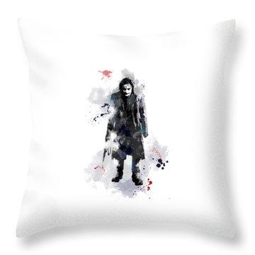 The Joker Throw Pillow by Marlene Watson