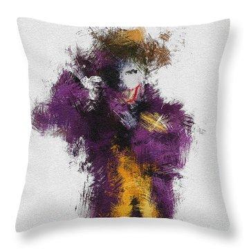 The Joker Throw Pillow by Miranda Sether