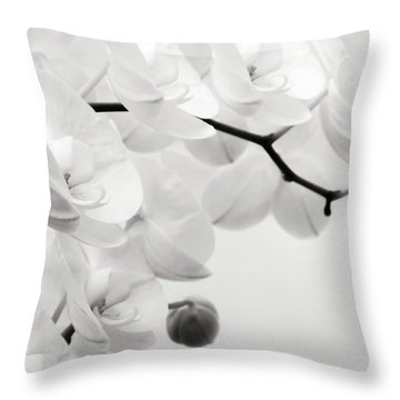 The Last Orchid Throw Pillow by Wim Lanclus