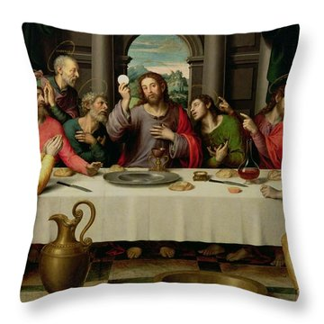 The Last Supper Throw Pillow by Vicente Juan Macip