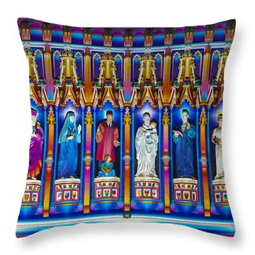 The Light Of The Spirit Westminster Abbey Throw Pillow by Tim Gainey