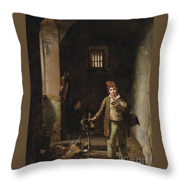 The Little Savoyards' Bedroom Or The Little Groundhog Shower Throw Pillow by Celestial Images