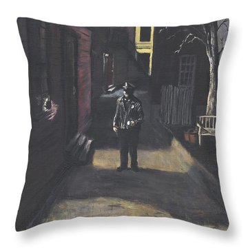 The Lonely Beat Throw Pillow by Jack Skinner
