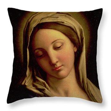 The Madonna Throw Pillow by Il Sassoferrato