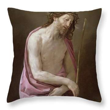 The Man Of Sorrows Throw Pillow by Guido Reni
