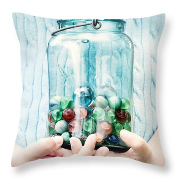 The Marble Collection Throw Pillow by Stephanie Frey