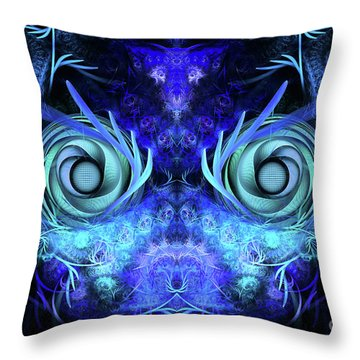 The Mask Throw Pillow by John Edwards