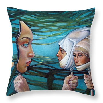 The Masqueradeum Throw Pillow by Patrick Anthony Pierson