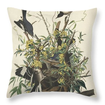 The Mockingbird Throw Pillow by John James Audubon