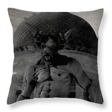 The Monster Maze Throw Pillow by Joaquin Abella