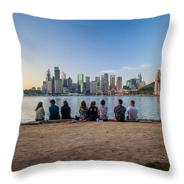 The Morning After Throw Pillow by Az Jackson