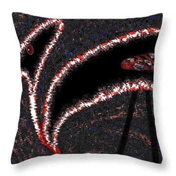 The Old Buzzard Throw Pillow by Will Borden