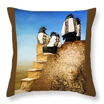 The Old Ones Throw Pillow by Jane Whiting Chrzanoska
