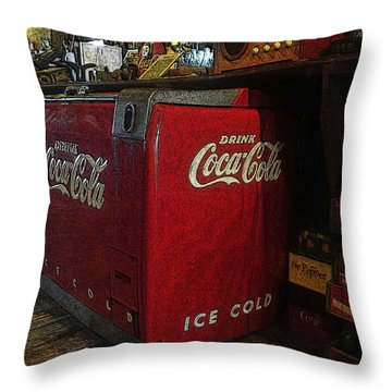 The Old Store Throw Pillow by David Lee Thompson