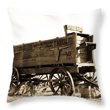 The Old Wagon Throw Pillow by Steve McKinzie