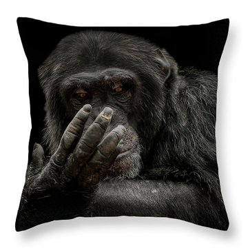 The Palm Reader Throw Pillow by Paul Neville