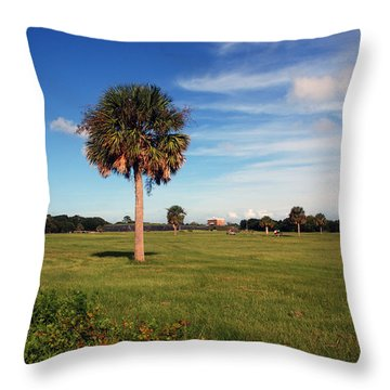 The Palmetto Tree Throw Pillow by Susanne Van Hulst