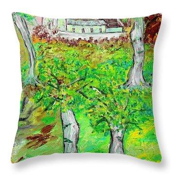 The Parish Curch Throw Pillow by Loredana Messina