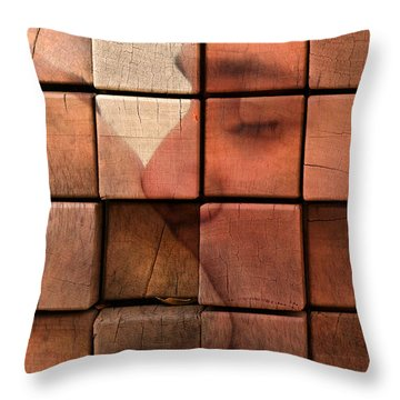 The Passion Of A Kiss 2 Throw Pillow by Mark Ashkenazi