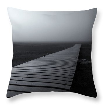 The Path Throw Pillow by Mike  Dawson