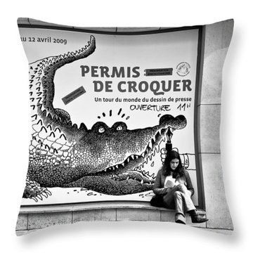 The Pen Is Mightier Than... Throw Pillow by Dave Bowman