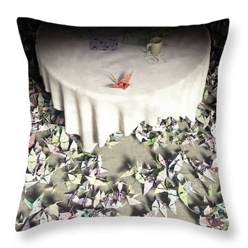 The Perfectionist Throw Pillow by Cynthia Decker