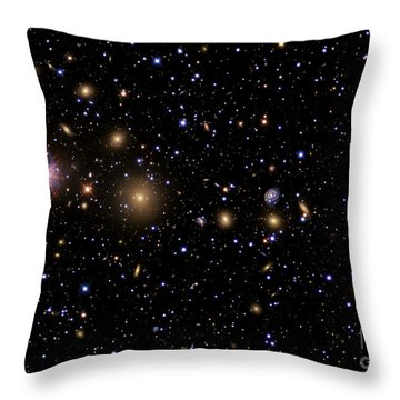 The Perseus Galaxy Cluster Throw Pillow by R Jay GaBany