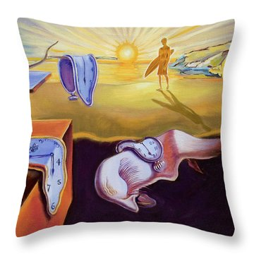 The Persistence Of Memory-amadeus Series  Throw Pillow by Dominique Amendola
