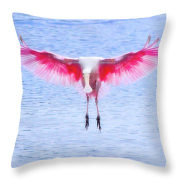 The Pink Angel Throw Pillow by Mark Andrew Thomas