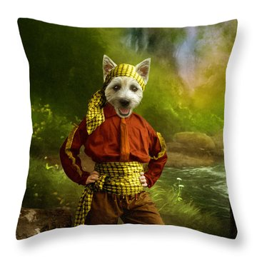 The Pirate Throw Pillow by Martine Roch