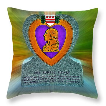 the Purple Heart Throw Pillow by Francisco Colon