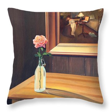 The Rape Throw Pillow by Patrick Anthony Pierson