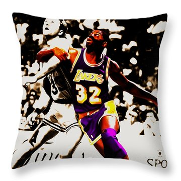 The Rebound Throw Pillow by Brian Reaves