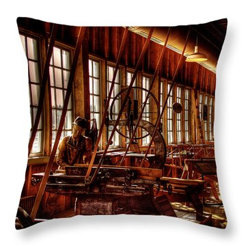The Red Barn Of The Boeing Company Iv Throw Pillow by David Patterson