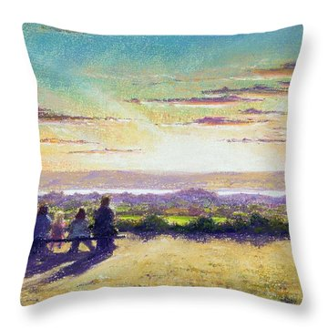 The Remains Of The Day Throw Pillow by Anthony Rule