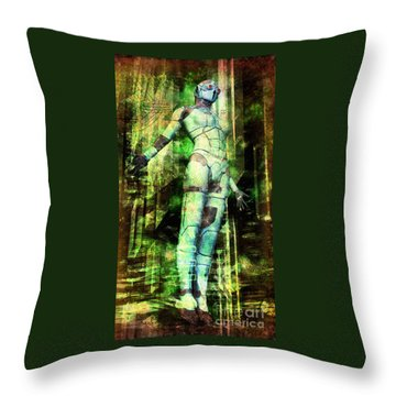 The Revelations Of Glaaki Throw Pillow by Luca Oleastri